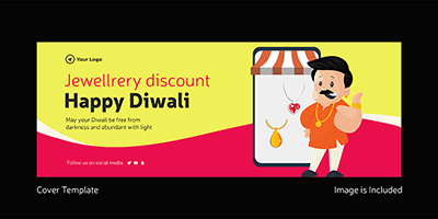 Happy Diwali jewellery discount cover template