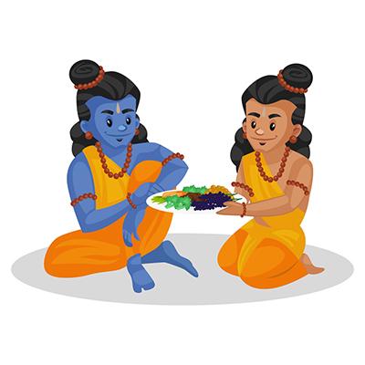 Laxman is giving food to Lord Rama
