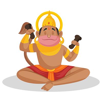 Lord hanuman is in Lord Rama's devotion
