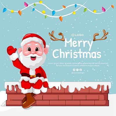 Merry Christmas festival on banner design template