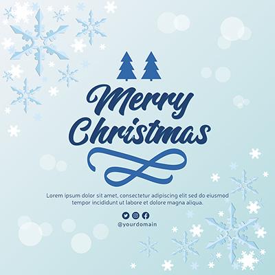 Merry Christmas festival banner template