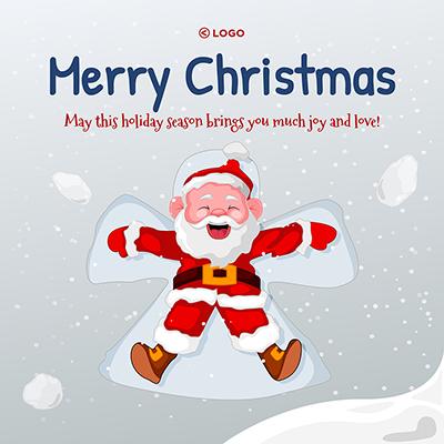 Merry Christmas festival banner template design