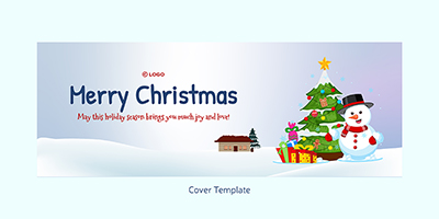 Merry Christmas festival cover template