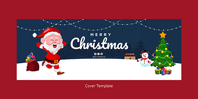 Merry Christmas festival on a cover template