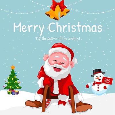 Merry Christmas festival on banner template