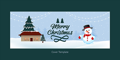 Merry Christmas festival on the cover template