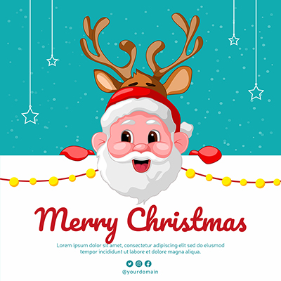 Merry Christmas festival with a banner template