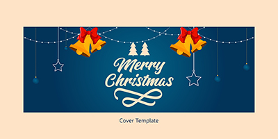 Merry Christmas on facebook cover template