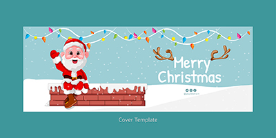 Merry Christmas on the facebook cover template