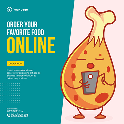 Order your favorite food online with banner