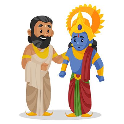 Raja Janaka is talking with Lord Rama