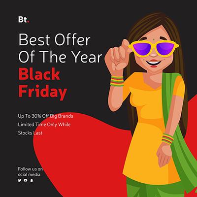 Sale on big brands black friday offer template design