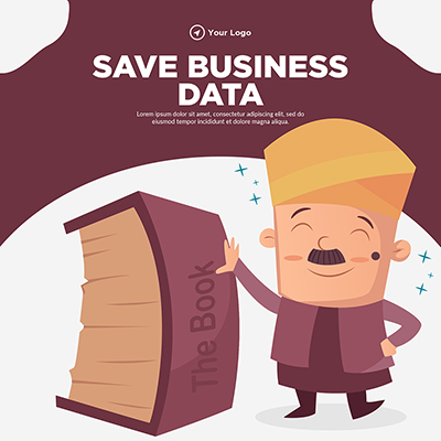 Save business data banner template design