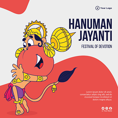 Social media banner design of hanuman jayanti