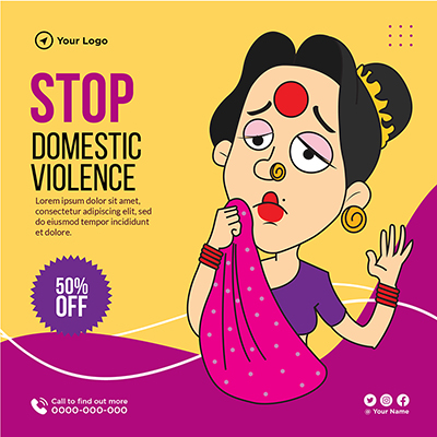 Stop domestic violence on template banner