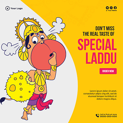 Template banner for special laddu