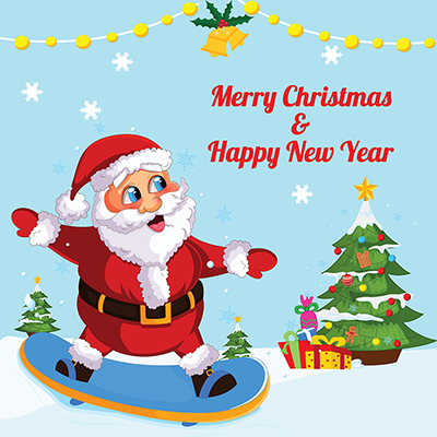 Template banner of merry christmas and happy new year