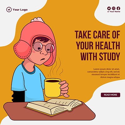 Template banner of take care of your health