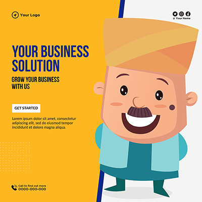 Template of your business solution and grow business