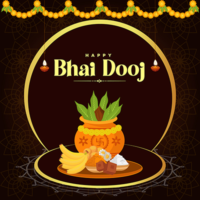 Template design banner of happy bhai dooj