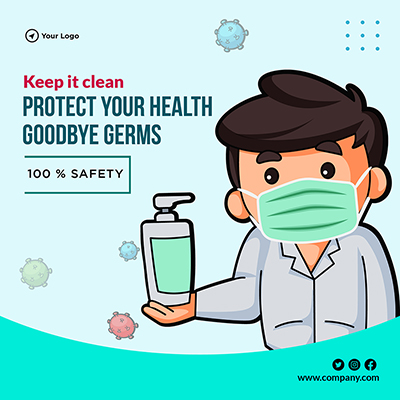 Template of keep it clean protect your health