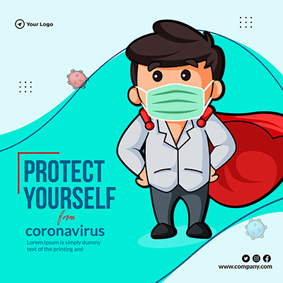 Template of protect yourself from coronavirus