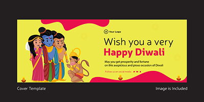 Wish you a very happy Diwali cover design