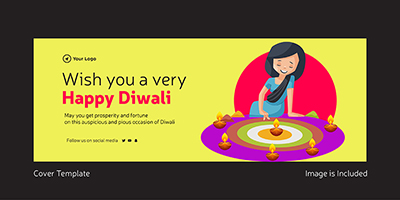 Wish you a very happy Diwali cover page template