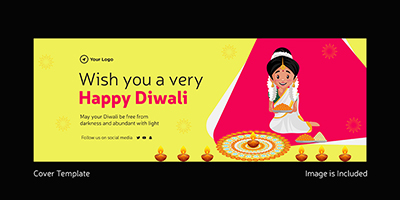 Wish you a very happy Diwali coverpage design