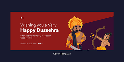 Wishing you a very happy dussehra cover template