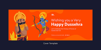 Wishing you a very happy dussehra on cover template