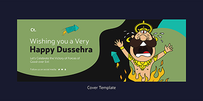 Wishing you a very happy dussehra on the cover template